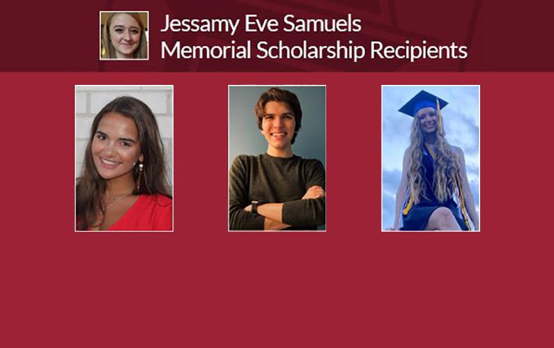 Fulbright College Announces its 2020-21 Jessamy Eve Samuels Memorial Scholarship Recipients.