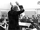 Doc conducting the concert band (spring 1967)