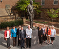 Fulbright Foreign Scholarship Board in front of the Fulbright statue