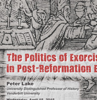Lecture on 'The Politics of Exorcism' on Wednesday, April 15