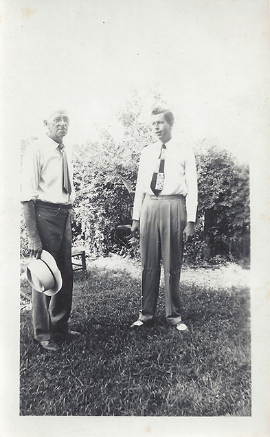 Edwin Clifford Boles and his son Edwin Vaulx Boles