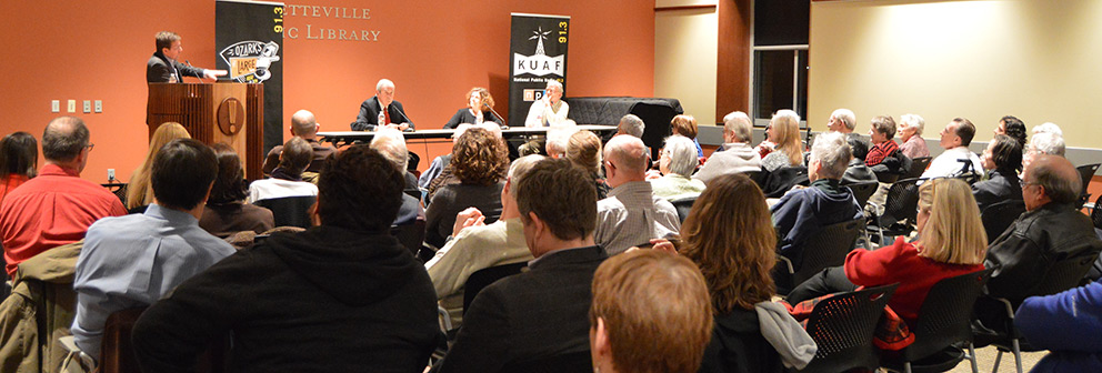 Panelists share stories with a packed house at Fayetteville Pubic Library