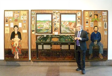 Artist Simon Dinnerstein and his Fulbright Triptych (© GKNY)