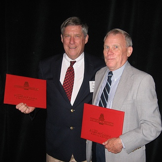 Walter Manger and Doy Zachry surprised with named scholarships