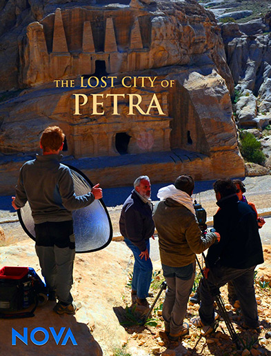 Promotional poster for NOVA's Lost City Petra 2014