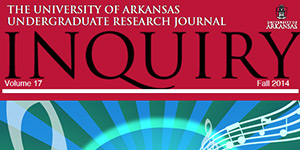 Students Mark Nabors and Rachel Yeager had their research published in volume 17 of the Inquiry Undergraduate Research Journal. Their faculty mentors were Kathy Comfort, associate professor of French and Luis Fernando Restrepo, professor of Spanish, respectively.