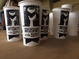 Artisans at the Depot promotional cups