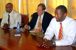 Meeting between the AAST Chair and University of Cape Coast faculty.