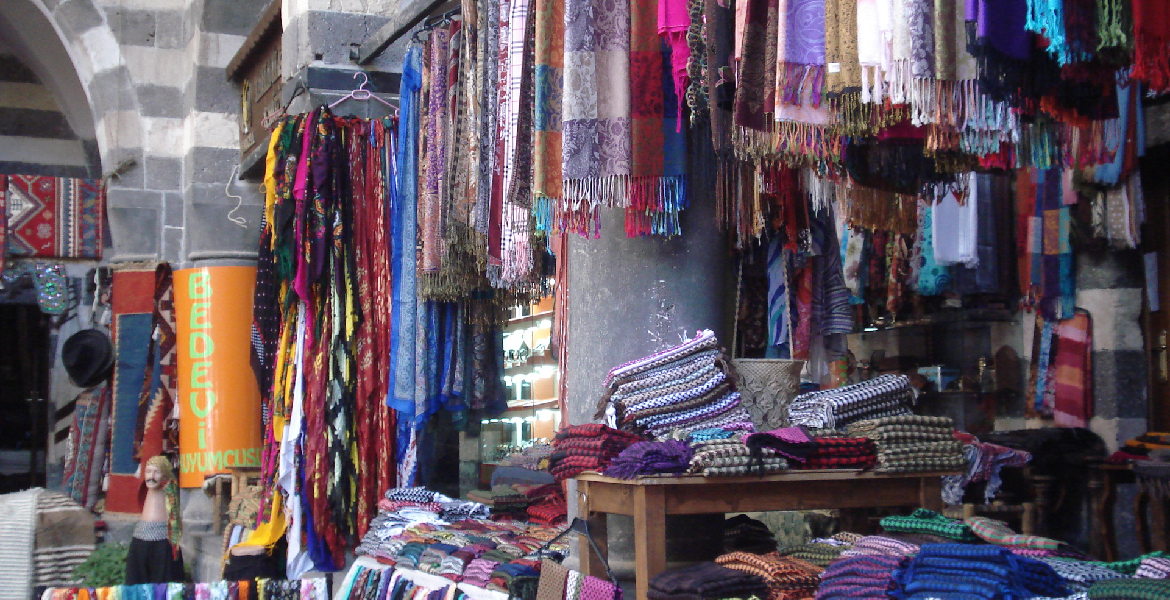 A market stall in Diyarbakir, Turkey; photo courtesy of Joel Gordon
