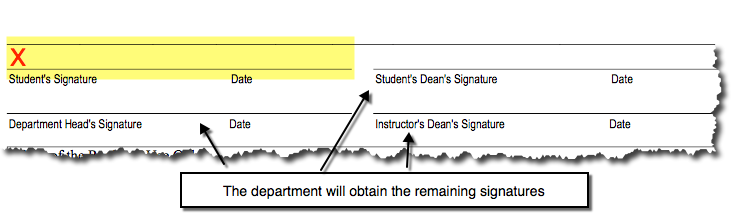 Override form signature section instructions