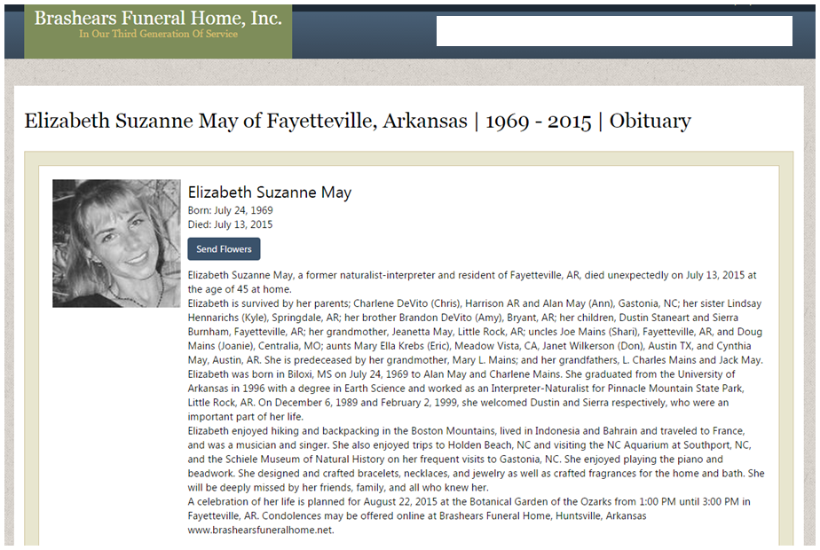 May-Staneart Obituary
