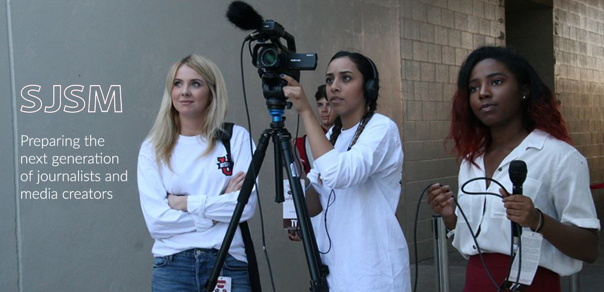UATV reporters at the game