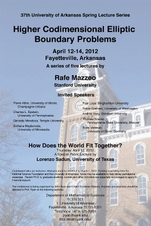37th Spring Lecture Series Poster