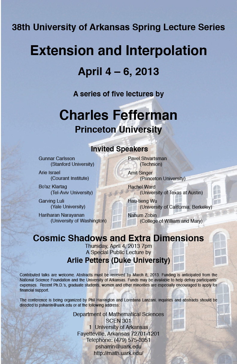 38th Spring Lecture Series poster