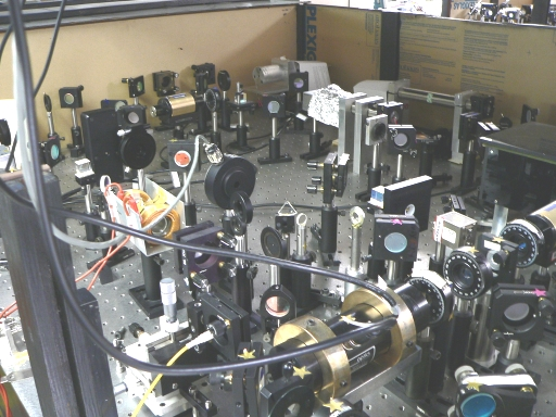 Experimental setup for studying novel nonlinear optical processes...