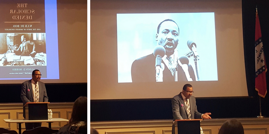 Aldon Morris presented his new research at a lecture on W.E.B. Du Bois. Fall 2016