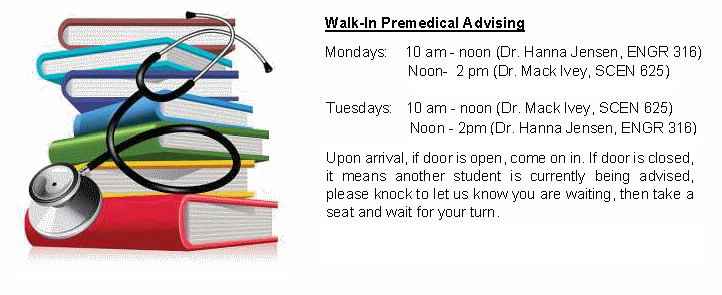 Click for details about premed advising