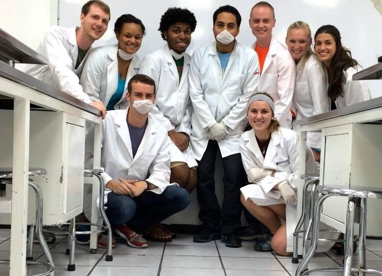Pre-med students spending their days in a Mexican hospital.