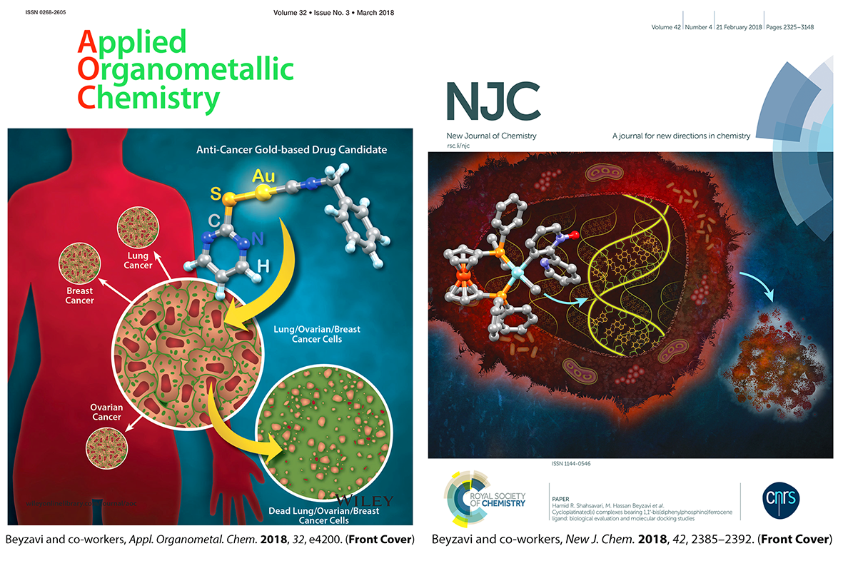 Two recent cover articles from Beyzavi Lab research.