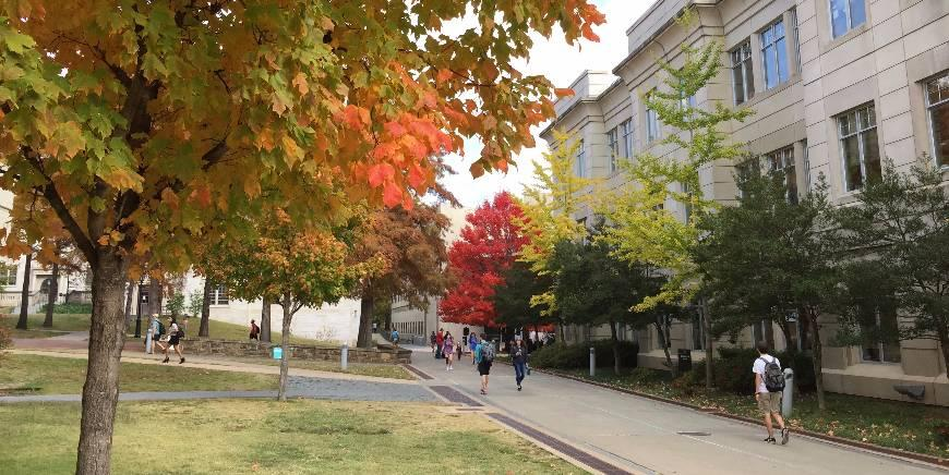 photo of campus Fall of 2017