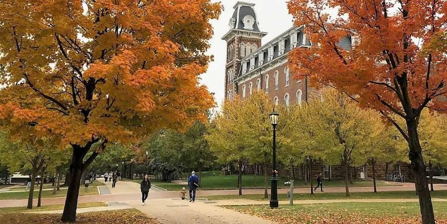 university campus, Old Main