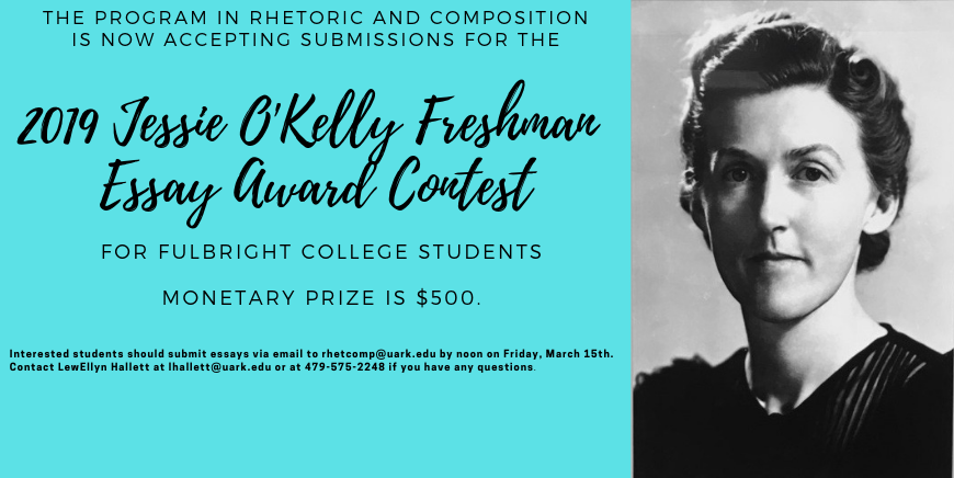 flyer for freshman essay award contest