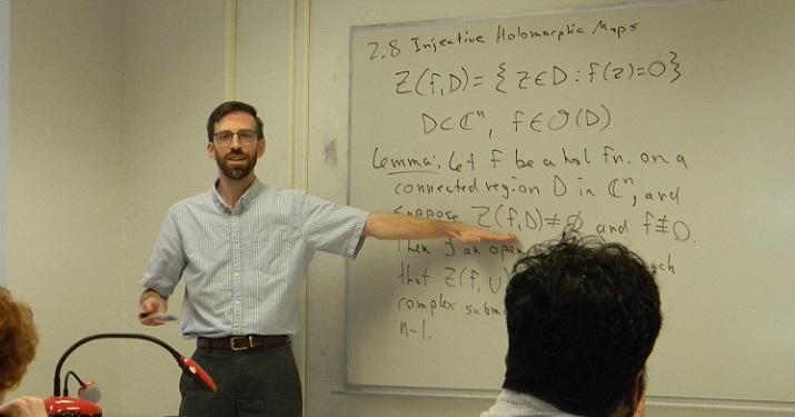 Dr. Harrington teaches a course on several complex variables