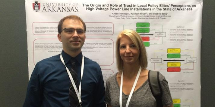 Graduate Students Creed Tumlison and Rachael Moyer Present at National Conference