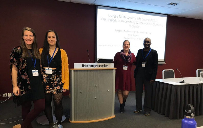 The group presented three symposium papers and a workshop a the third European Conference on Domestic Violence in Oslo, Norway.