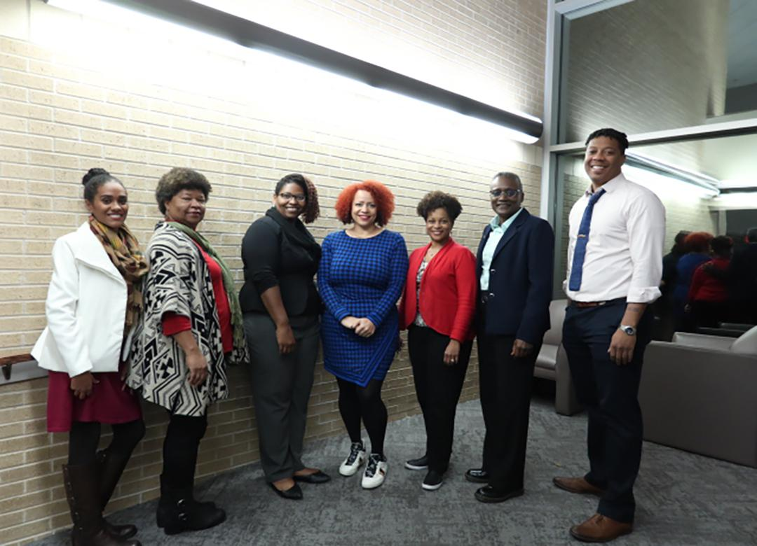 Nikole Hannah-Jones with Fulbright faculty and staff.