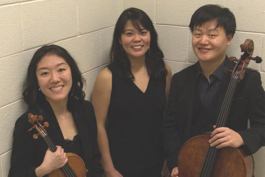 Er-Gene Kahng (left), Tomoko Kashiwagi (center), Dominic Na (right)
